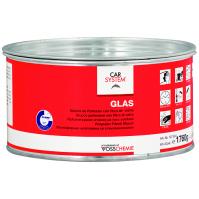 """127974 2К Полиэфирная стекловолокнистая шпатлевка """"Glas"""" зелен. (1,8кг) CarSystem"""
