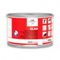 """130854 2К Полиэфирная стекловолокнистая шпатлевка """"Glas"""" зелен. (1кг) CarSystem"""