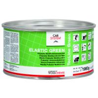 """146708 2К Полиэфирная эластичная, доводочная шпатлевка """"Elastic Green"""" зелен. (2,0кг) CarSystem"""