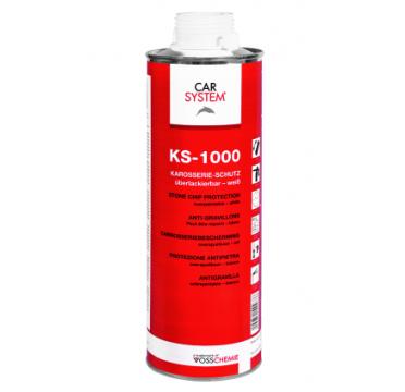 149265 KS-1000 Антигравийное покрытие окрашиваемое черное 1л CarSystem