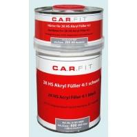 2K Акриловый грунт-наполнитель 4:1 черный (0,8+0,2кг) комплект CarFit