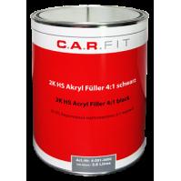 2К Акриловый грунт-наполнитель HS 4:1 черный 3,6 л CarFit