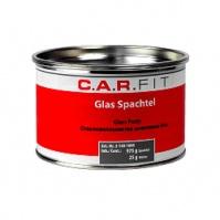 2К Шпатлевка полиэфирная стекловолокнистая Glas 1 кг, вкл.отв. CarFit