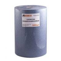 Салфетки полипропиленовые REMIX (синие) 70 г/м2, 32х40 см 500 шт/рулон REMIX