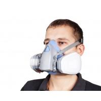 5500 полумаска с двойным фильтром для защиты от пыли, аэрозолей, газов. В комплекте, M JETA