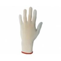 Бесшовные трикотажные защитные перчатки из полиэфирных волокон, белые, Р-ры:  9/L. JETA
