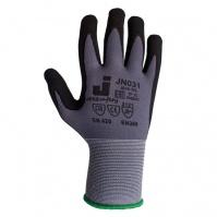 Защитные перчатки с микронитриловым покрытием. Размеры: 9/L. Цвет - серый. JETA