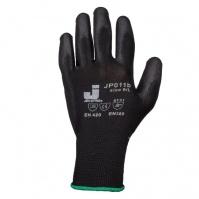 Защитные перчатки с полиуретановым покрытием. Р-ры: 9/L. Цвет - черный. JETA