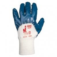 Защитные перчатки с частичным нитриловым покрытием. Вязаная манжета. Синие. Размеры: 9/L JETA