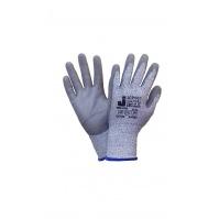 Защитные промышленные перчатки от порезов (3класс) Цвет - серый  10/XL JETA