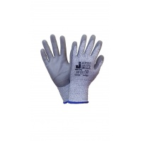 Защитные промышленные перчатки от порезов (3класс) Цвет - серый  9/L JETA