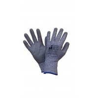 Защитные промышленные перчатки от порезов (5класс) Цвет - серый 9/L JETA
