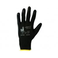 Защитные промышленные перчатки с нитриловым покрытием. Размеры:10/XL. Цвет - черный. JETA
