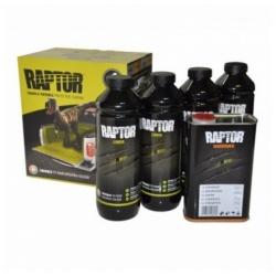 RAPTOR 2K 3:1 (4л) Защитное покрытие повышенной прочности, комплект 4+1 л U-Pol Черный Бутылка
