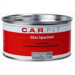 2К Шпатлевка полиэфирная стекловолокнистая Glas 1,8 кг, вкл.отв. CarFit