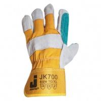 Комбинированные защитные кожаные перчатки. Защитная манжета. Усиленная ладонь.Размеры: 10/XL.  JETA