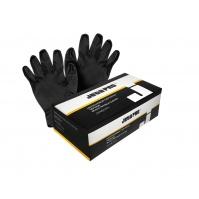 Перчатки нитриловые для малярных работ, черный, 240 мм, 0,15 мм, M JETA