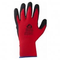 Перчатки с текстурным пенонитриловым покрытием. Размеры: 9/L. Цвет - черный/синий. JETA