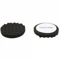 Полировальный круг из поролонa D 150 mm  T 30 mm мягкий черный ребристый ISISTEM Norma Black Waffle
