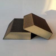 Угловой шлифовальный блок 98х87х26мм, 4-х сторонний_P180 SUNMIGHT