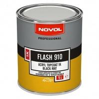 FLASH 910 Акриловая эмаль-черный мат 1,0л NOVOL