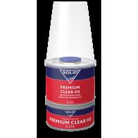 322.0750 SOLID PREMIUM CLEAR HS (500+250мл) - 2K лак системы HS (в комп. с отвердит.)