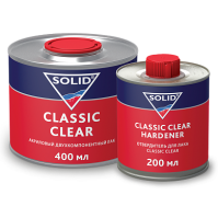 SOLID CLASSIC CLEAR  (400+200мл) - 2K лак (в комп. с отвердит.)