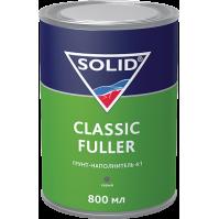 SOLID Classic Fuller  (800+200 мл) -  грунт-наполнитель 4:1 (комп.), цв: серый