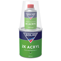 SOLID2K ACRYL (2500+500мл) - наполнительный грунт 5+1, цвет: черный (в комп. с отвердит.)