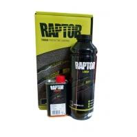 RAPTOR 2K 3:1 Защитное покрытие повышенной прочности 750 мл U-Pol Черный Бутылка + S2030 Отвердитель