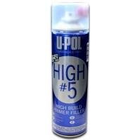 HIGH 5 Грунт толстослойный 450 мл U-Pol Темно-серый Аэрозоль