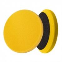 Сверхпроч. поролон. полировальный диск, среднеагрес. полиров., желтый 150\180, 30мм липучка MENZERNA
