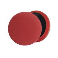 Сверхпрочный поролоновый полировальный диск, красный 150\180, 30мм. Липучка Velcro. MENZERNA