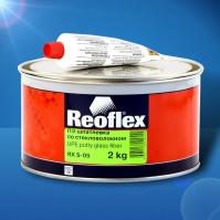 Шпатлевка со стекловолокном Glass fiber  2 кг+0,05 REOFLEX