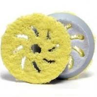Полировальный диск из микрофибры d 80-100мм, желтый Rupes