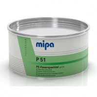Шпатлёвка со стекловолокном (GLASS) Зеленая P51 - 1,8 кг.  Mipa
