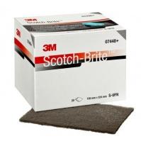 07448 3М - Лист скотч-брайт ультратонкий (серый), 158 х 224 мм