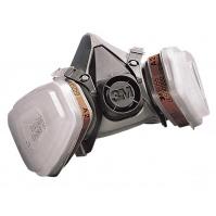 6200 3М - Полумаска в сборе 6200(маска, ф-р угольн., предф-р, держатель)СРЕДНЯЯ
