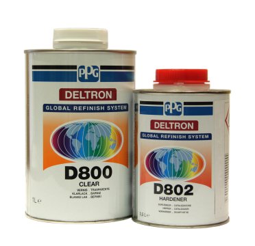 PPG Лак D800 1л. с отверд. 0,5л. (6 шт)