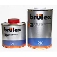 2K-HS-Прозрачный лак 6 x 1 ltr Brulex +  2K-Отвердитель нормальный 6 x 0,5 ltr Brulex