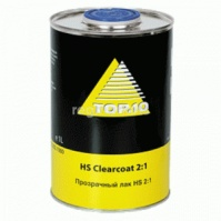 Clearcoat HS Двухкомпонентный прозрачный лак HS 5 ltr +Hardener HS Отвердитель HS (2:1) 4 X 2,5 ltr
