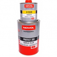 Акриловый грунт PROTECT 300 4+1 1л серый  NOVOL + Отвердители H5520 PROTECT 300,310,350 0,25 л NOVOL