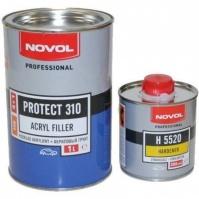 Акриловый грунт PROTECT 310 4+1 1л черный NOVOL + Отвердители H5520 PROTECT 300,310,350 0,25 л NOVOL