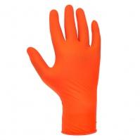 Ультрапрочные универсальные одноразовые нитриловые перчатки, оранжевый, M JETA