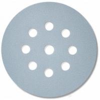 Абразивный материал в кругах D125 мм, 9 отверстий  Р150 SIA