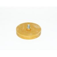 TOR Диск резиновый (гладкий) D90мм*15мм для снятия клейких лент и остатков клея со шпинделем М8.  с