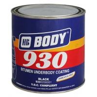 Эмаль Body базовая 930BL (Deep black) черный 1  л.