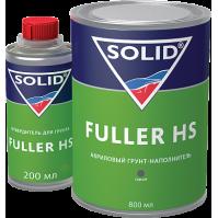 332.1003 SOLID FILLER HS (800+200 мл) - грунт-наполнитель 4+1, цвет: серый  (в комп. с отвердит.)