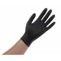 """Перчатки нитриловые одноразовые черные """"XL"""" MULTIFULLER"""