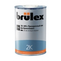 2K-MS-Прозрачный лак Бриллиант 6 x 5 ltr Brulex + 2K-Отвердитель нормальный 6 x 2,5 ltr Brulex